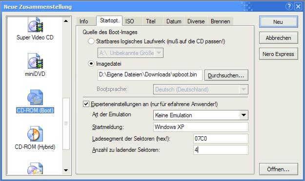 Recovery Cd --> Vollwertige Windows Xp-cd - WinFuture-Forum de